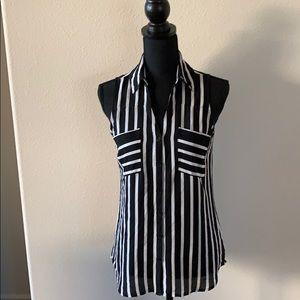 Express Black and White Striped portofino